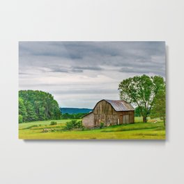 Barn In Bliss Township Metal Print