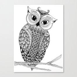 Lady Owl Canvas Print