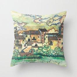 """A Spanish village"" Throw Pillow"