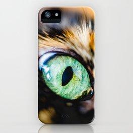 Emerald Cat Eye Photo iPhone Case