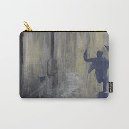 Grey day to be late - Rain series Carry-All Pouch