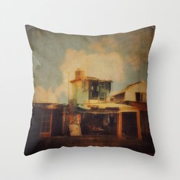 Fisherman Houses Throw Pillow