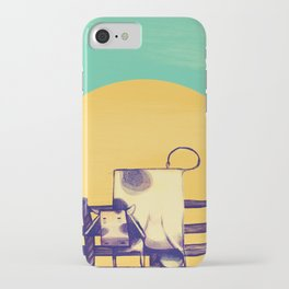 Cow Sunset iPhone Case