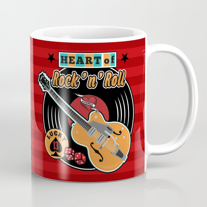 Heart of Rock 'n Roll Coffee Mug
