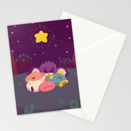 Midnight on Green Greens Stationery Cards