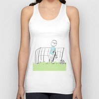football Tank Tops featuring football by sharon