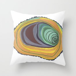 Tree Stump Series 1 - Illustration Throw Pillow