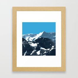 swiss mountains Framed Art Print