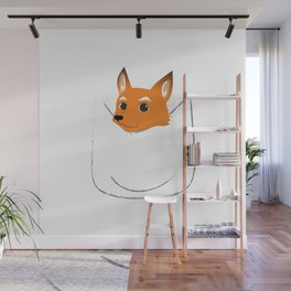 Fox in my pocket Wall Mural