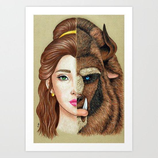 Beauty & the Beast Art Print