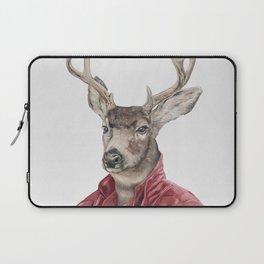 Deer in Leather Laptop Sleeve
