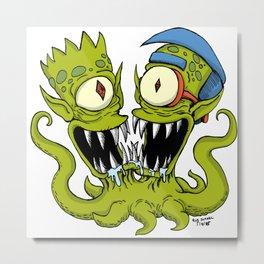 Bart & Milhouse Metal Print