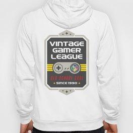 Geeky Gamer Chic Classic Vintage Gaming SNES Inspired Vintage Gamer League Old School Cool Hoody