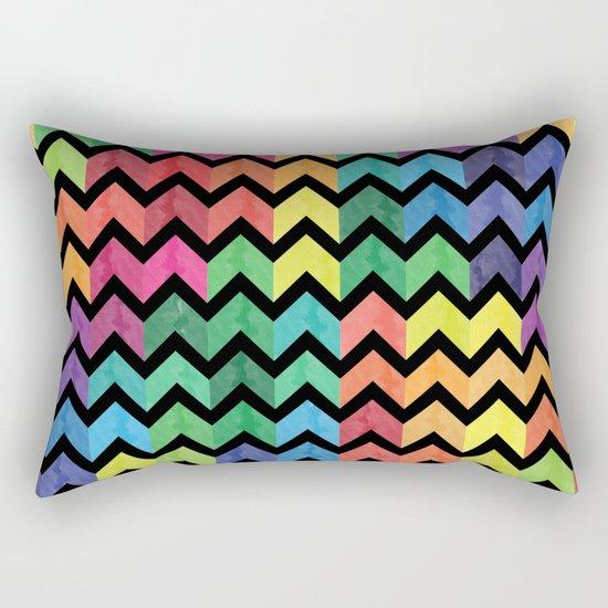Watercolor Chevron Pattern V Rectangular Pillow
