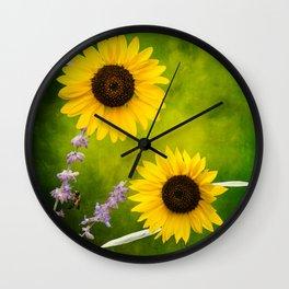 Sunflowers. Wall Clock