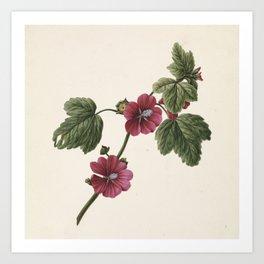 M. de Gijselaar - Twig with purple flowers (1830) Art Print