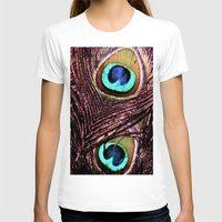 peacock feather T-shirts featuring Peacock Feather by Art by Jolene