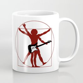 DaVinci's vitruvian man ready to rock Coffee Mug