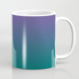 Ultra Violet Quetzal Green Gradient Pattern Coffee Mug