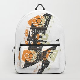 Dj's Lightning Of Vinyl Music Backpack