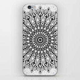 Mandala in grey iPhone Skin