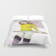 The Yellow Sweater Duvet Cover