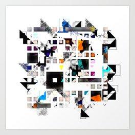 Multi geometrical Pattern Design Art Print