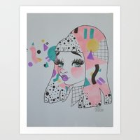mod Art Prints featuring Mod by squidvishuss