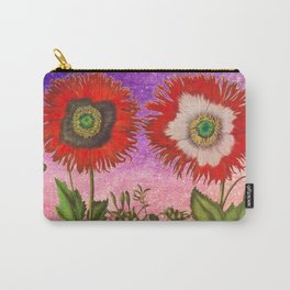 Vintage Botanical Collage - Poppies, Papaver Somniferum Carry-All Pouch