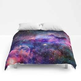 Galaxy Universe Stars Comforters