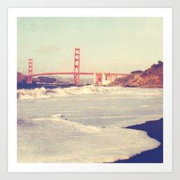 Golden Gate Bridge photo. Love Song Art Print