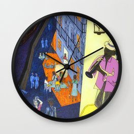 New Orleans, here music is being born, every day anew (My dreams of America part2) Wall Clock