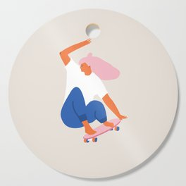 Skateboard girl Cutting Board