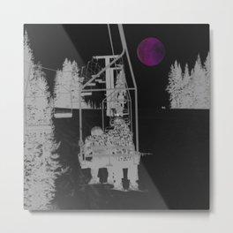 Inverted Ski Lift to the Moon Metal Print