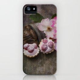 Taste of Summer- Raspberry Cakes iPhone Case