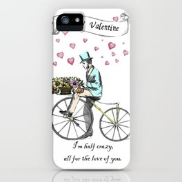 Spring time bicycle romance iPhone Case