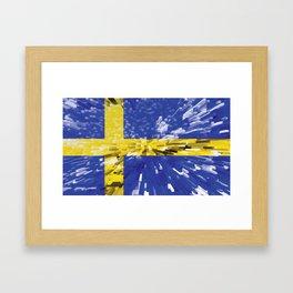Extruded Flag of Sweden Framed Art Print