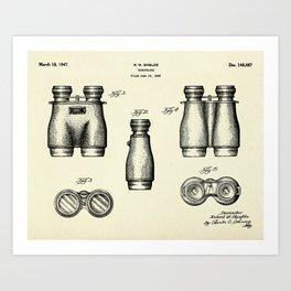 Binoculars-1947 Art Print
