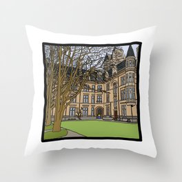 Cambridge struggles: Gonville and Caius College Throw Pillow