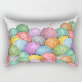So Much Yarn Rectangular Pillow