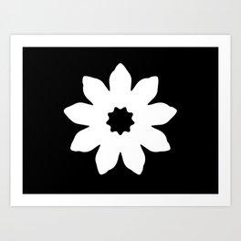 Vector Flower Art Print