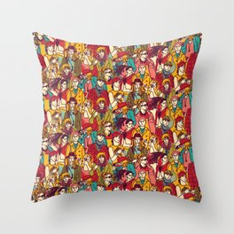 Bright people Throw Pillow