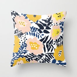 Outdoor: florals matching to design for a happy life Throw Pillow