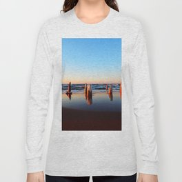 Reflected Remains on the Beach Long Sleeve T-shirt