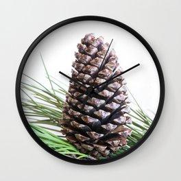 Pinecone and needles Wall Clock