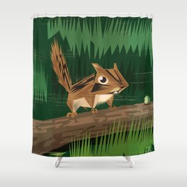 Chip Chip Shower Curtain