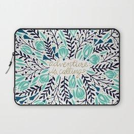 Adventure is Calling – Navy & Mint Palette Laptop Sleeve