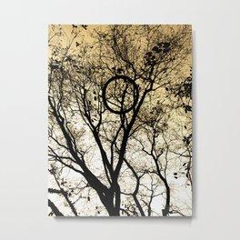 Tree & Tire Metal Print