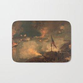 Civil War Battle of Port Hudson by J.O. Davidson (1887) Bath Mat