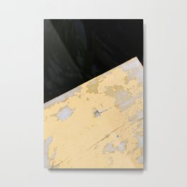 Chipped Paint and the Dark Deep Metal Print
